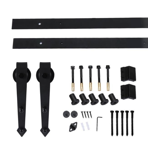 Picture of Levede Sliding Barn Door Hardware Track Roller Kit 2M Antique Classic Single   Free Delivery