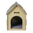 Picture of Wooden Dog House Pet Kennel Timber Indoor Cabin Large Oak L   Free Delivery