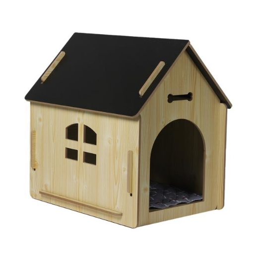 Picture of Wooden Dog House Pet Kennel Timber Indoor Cabin Medium Oak M   Free Delivery