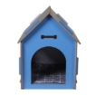 Picture of Wooden Dog House Pet Kennel Timber Indoor Cabin Extra Large Blue XL   Free Delivery