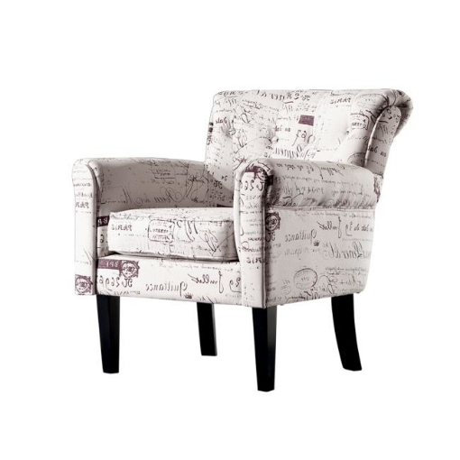 Picture of 2x Levede Upholstered Armchair Dining Chairs Single Accent Sofa Padded Fabric   Free Delivery