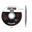 """Picture of Grinder Disc Cutting Discs 5"""" 125mm Metal Cut Off Wheel Angle Grinder 100PCS   Free Delivery"""