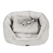 Picture of PaWz Pet Bed Set Dog Cat Quilted Blanket Squeaky Toy Calming Warm Soft Nest Beige L   Free Delivery