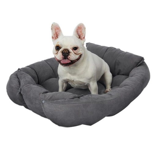Picture of PaWz Pet Bed 2 Way Use Dog Cat Soft Warm Calming Mat Sleeping Kennel Sofa Grey L | Free Delivery