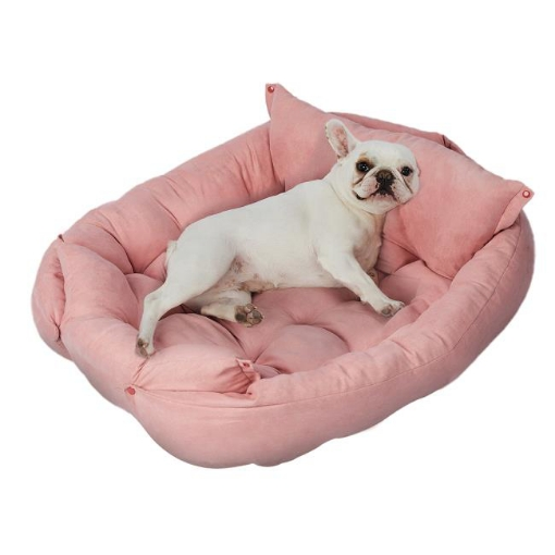 Picture of PaWz Pet Bed 2 Way Use Dog Cat Soft Warm Calming Mat Sleeping Kennel Sofa Pink S | Free Delivery