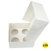 Picture of 20 Pcs 4 Holes Cupcake Boxes Cupe Cake Box Window Face Cover and Inserts | Free Delivery