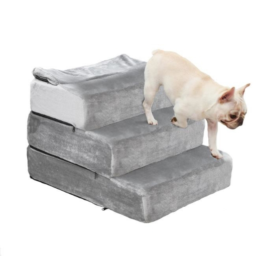 Picture of PaWz Pet Stair 3 Step Ramp Portable Adjustable Climbing Ladder Soft Washable M | Free Delivery