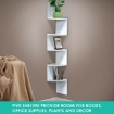 Picture of Levede 5 Tier Corner Wall Shelf Display Shelves DVD CD Storage Zig-tag Rack   Free Delivery