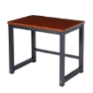 Picture of 90cmx60cm Modern Metal Computer Desk Study Table Walnut Black   Free Delivery