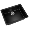Picture of 600x480mm Granite Kitchen Sink Black   Free Delivery