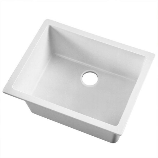 Picture of 600x480mm Granite Kitchen Sink White | Free Delivery