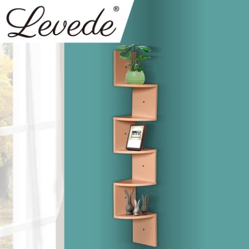 5 Tier Corner Wall Shelf