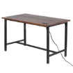 Picture of Bar Table Pub Home Top Rack Wine Modern Wood Kitchen Indoor Furniture | Free Delivery