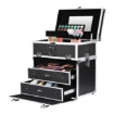 Picture of Portable Makeup Case Cosmetic Organiser Box Beauty Travel Suitcase 5 in 1 Black   Free Delivery