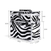Picture of Portable Makeup Case Cosmetic Organiser Box Beauty Travel Suitcase 5 in 1 Zebra | Free Delivery
