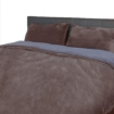 Picture of Luxury Bedding Two-Sided Quilt Cover with Pillowcase Double Size Taupe   Free Delivery