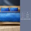 Picture of Luxury Bedding Two-Sided Quilt Cover with Pillowcase King Size Navy Blue   Free Delivery