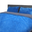 Picture of Luxury Bedding Two-Sided Quilt Cover with Pillowcase Queen Size Navy Blue   Free Delivery