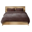 Picture of Luxury Bedding Two-Sided Quilt Cover with Pillowcase Super King Size Taupe | Free Delivery