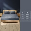 Picture of Ultra Soft Fitted Bedsheet with Pillowcase Double Size Dark Grey   Free Delivery