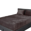 Picture of Bedding Set Ultrasoft Fitted Bed Sheet with Pillowcases Mink King | Free Delivery