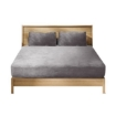 Picture of Bedding Set Ultrasoft Fitted Bed Sheet with Pillowcases Silver Grey King | Free Delivery