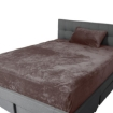 Picture of Bedding Set Ultrasoft Fitted Bed Sheet with Pillowcases Mink King Single | Free Delivery