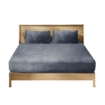 Picture of Bedding Set Ultrasoft Fitted Bed Sheet with Pillowcases Dark Grey Queen   Free Delivery