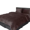 Picture of Luxury Flannel Quilt Cover with Pillowcase Mink Queen | Free Delivery