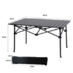Picture of Levede Folding Camping Table Portable Aluminium Outdoor Picnic Garden Black | Free Delivery