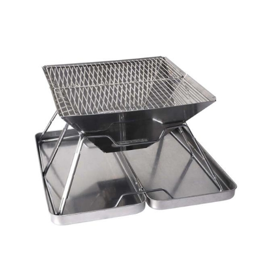 Picture of Charcoal BBQ Grill Foldable Barbecue Portable Outdoor Steel Roast Camping Picnic   Free Delivery