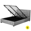 Picture of Levede Bed Frame Queen Size Mattress Platform Fabirc With Storage Gas Lift   Free Delivery
