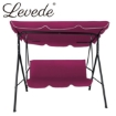 Picture of Levede Swing Chair Hammock Outdoor Furniture Garden Canopy Cushion Bench Red | Free Delivery