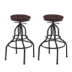 Picture of Levede 4x Industrial Bar Stools Kitchen Stool Wooden Barstools Swivel Chair | Free Delivery