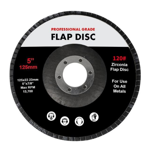 """Picture of Traderight Flap Discs 125mm 5"""" Zirconia Sanding Wheel 120 # Sander Grinding x100   Free Delivery"""