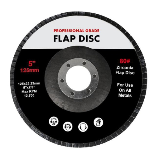 """Picture of Traderight Flap Discs 125mm 5"""" Zirconia Sanding Wheel 80# Sander Grinding x10   Free Delivery"""