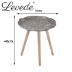 Picture of Levede Coffee Table Side End Tables Antique Storage Modern Bedside Plant Stand | Free Delivery