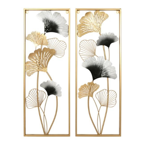 Picture of Large Metal Wall Art Hanging Leaf Tree Of Life Home Decor Sculpture Garden Pair | Free Delivery