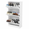 Picture of Shoe Cabinet Shoes Storage Rack Organiser 36 Pairs White Shelf Cupboard | Free Delivery