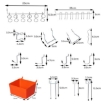Picture of Pegboard Hooks Storage Bins Hanger Locks Parts Steel Tray Organizer Bin 138PC   Free Delivery