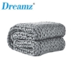 Picture of Dreamz Knitted Weighted Blanket Chunky Bulky Knit Throw Blanket 3KG Grey | Free Delivery