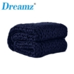 Picture of Dreamz Knitted Weighted Blanket Chunky Bulky Knit Throw Blanket 3KG Navy Blue | Free Delivery