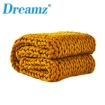 Picture of Dreamz Knitted Weighted Blanket Chunky Bulky Knit Throw Blanket 3KG Yellow | Free Delivery
