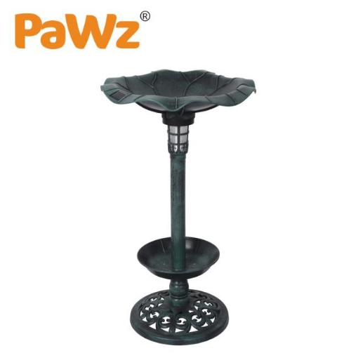 Picture of PaWz Bird Bath Feeder Feeding Food Station Ornamental Solar Light Outdoor Garden   Free Delivery