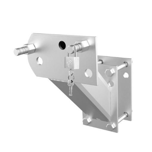 Picture of Spare Wheel Bracket Carrier Universal Tyre Holder Trailer Caravan Boat With Key | Free Delivery