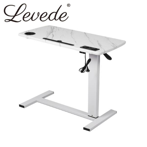 Picture of Levede Standing Desk Height Adjustable Sit Stand Office Computer Table Shelf USB | Free Delivery