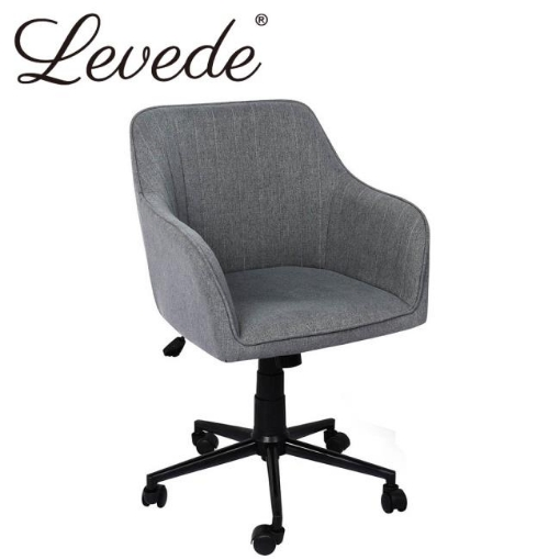 Picture of Levede Office Chair Fabric Computer Gaming Chairs Executive Adjustable Seat Grey   Free Delivery